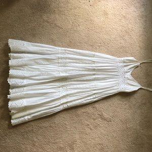 BCBG White Crochet Lace Summer Maxi Dress Size XS